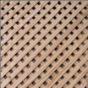 """4'X 8' SYP ACQ PRIVACY DIAGONAL = 7/16"""" THICK  1 1/8"""" OPENINGS ="""