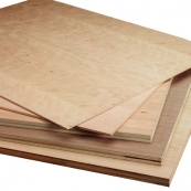 "4X8-1/4"" RED OAK V.CORE PLYWOOD 