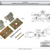 2050PLBG CONV PCKT DR KT 2000SER FOR USE WITH 2000 SERIES POCKET DOOR FRAMES.  Contains:  2 ea 2055 Track Stops, 1 ea Top Plate, 1 ea Bottom Plate, Mounting Screws NSSBLT