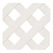 """4'X8' WHT POLY SQUARE PRIVACY (1-3/4"""" SPACING)"""