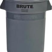 2632 32GAL.GREY BRUTE TRASH CAN