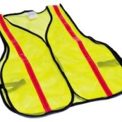 8028C LIME GRN REFLECTIVE VEST  