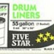 5* 2MIL 55GL BLK DRUM LINER 20