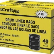 55040 55GAL 2M DRUM LINER BLACK