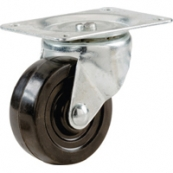9480 RBBR SWVL PLATE CASTER 4IN