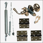 DELUXE BRASS SCREEN DOOR HDWE KIT FOR SCREEN/COMBO DOOR