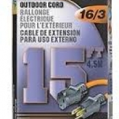 OR501615 EXT CORD 16/3X15FT ORNG