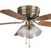 HUGGER CEIL FAN 3LT AB 52IN