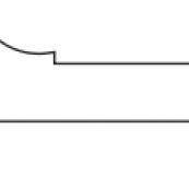 "2-3/4"" x 11/16"" BEADED CASING SM-82P; FINGERJOINT PRIMED"