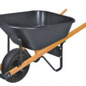 WB6PMB 6CU.FT BLACK POLY WHEEL-