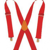 110RED HVY DTY WEB SUSPENDERS