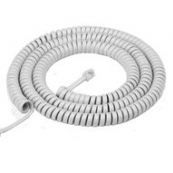 TH1025W PHONE COIL CORD 25'WHT