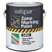 #136 VALSPAR GAL YELLOW TRAFFIC MARKING PAINT