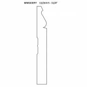 """11/16X 7-1/4""""FJ PRIMED HOOKED OGEE BASE (RR33)"""