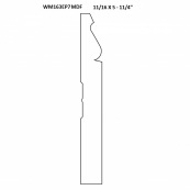 """WM163EP-7-1/4""""MDF BASE 16' SECTION ONLY. PRIMED MDF"""