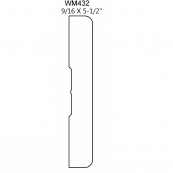 "5-1/2"" SANITARY BASE / WM432E-FJ *""F.J."", PINE *R1E"