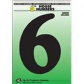 6IN BLACK PLASTIC #6