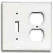 2138W-BOX WHT COMB PLATE 2G
