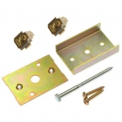 """1555PPK3 CONV. POCKET DOOR KIT, FOR USE WITH 1500 SERIES POCKET DOOR KITS.  Contains 2 ea 1155 Track Stops, 1 ea Top Plate, 1 - """"U"""" Channel, Mounting Screws"""
