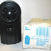 125/WD DRYER RECPT 30A 3WIRE