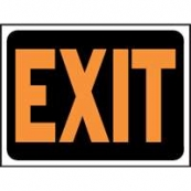 9X12 PLASTIC SIGN EXIT