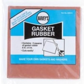 20510 6x6 HARVEYS RED RUBBER