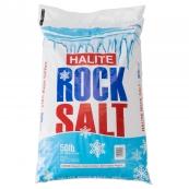 HALITE ROCK SALT / 50#           49 BAGS PER SKID NON-RETURNABLE ALL SALES FINAL !