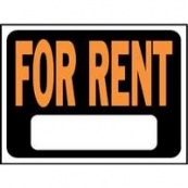 9X12 PLASTIC SIGN FOR RENT