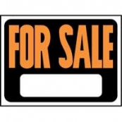 9X12 PLASTIC SIGN FOR SALE