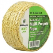 16212 SISAL ROPE 1/4IN 50FT