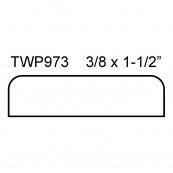 "1-7/16"" FLAT MULLION / TWP-973P   ""F.J."", PINE"