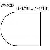 """1-1/4"""" PLAIN NOSING / WM-1030O   """"A"""" GRADE, RED OAK"""