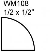 """1/2"""" PINE QTR. ROUND / WM-108A   """"A"""" GRADE, PINE"""