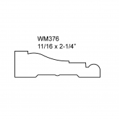 "2-1/4"" BEADED CASING-7'/ WM-376O