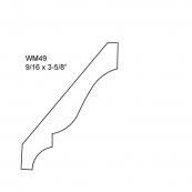 "3-5/8"" CLR. CROWN MOULD / WM-49A ""A"" GRADE, PINE"