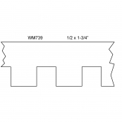 "1-3/4"" DENTIL MOULD / WM-739A   