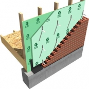 """STYROFOAM/GREEN BOARD 3/4"""" 4'X8' R-VALUE 4.0 RESIDENTIAL SHEATHNG PACTIV GREEN GUARD TYPE IV-25PSI SQUARE EDGE"""