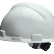 SWX00346 WHITE HARDHAT W/ RATCHET