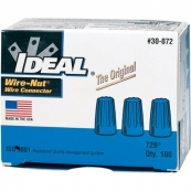 WIRE NUT, BLUE 100/BOX 10-002