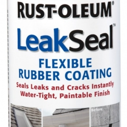 265495 LEAK SEAL SPRY CLEAR 12OZ RUBBERIZED PLASTIC COATING