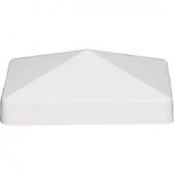 AZEK WHT. 4X4 PYRAMID PVC POSTCAP(NEW STYLE)THIS IS A TIMBERTECH RRE cap.